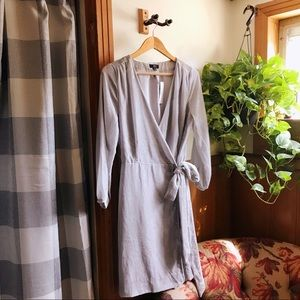 J. CREW Drapey Velvet Wrap Dress